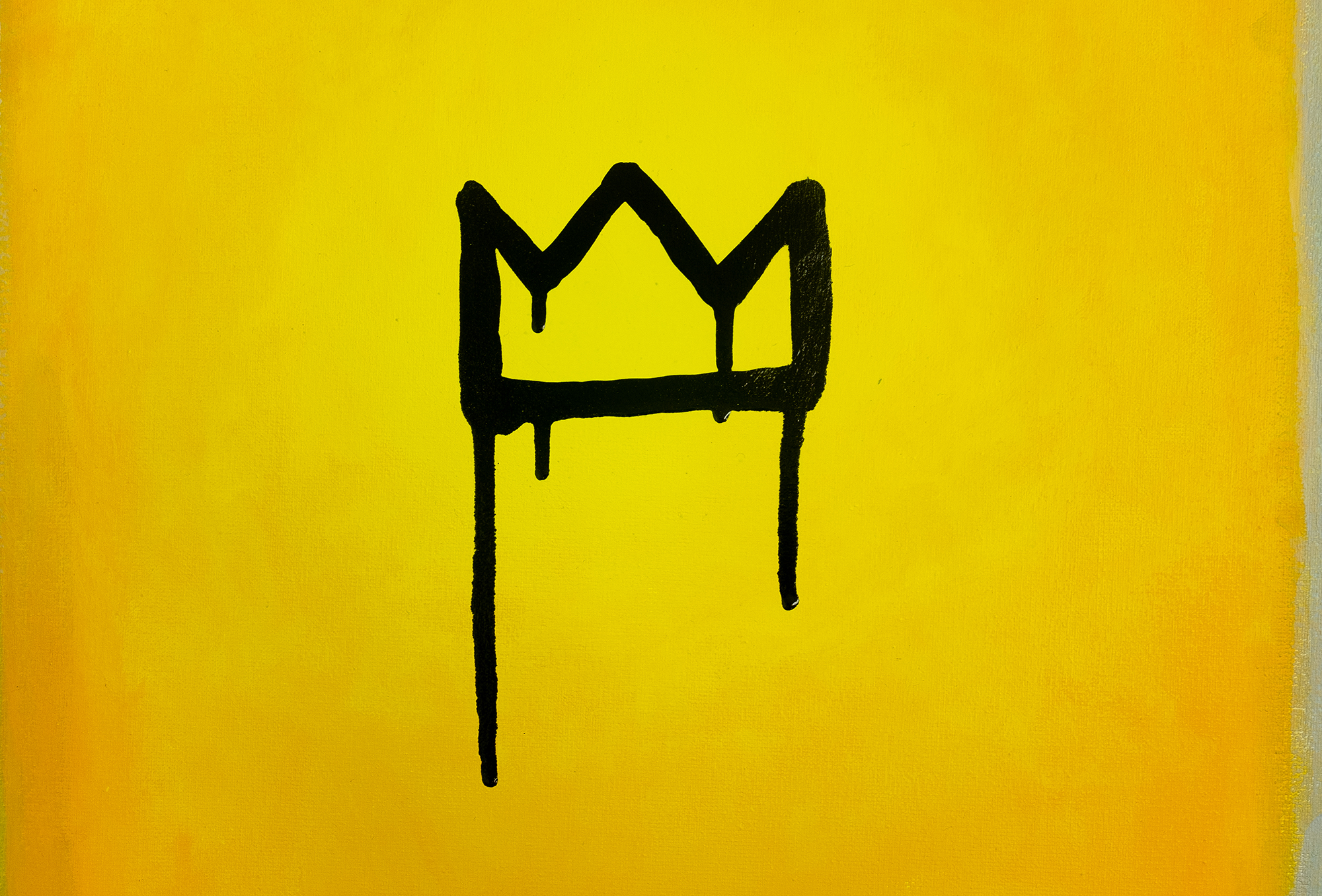 Just believe me – yellow artwork with black crown
